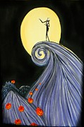 Nightmare Before Christmas Painting Prints - Jacks Lament Print by Marisela Mungia