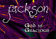 Star Burst Paintings - Jackson - God is Gracious by Christopher Gaston