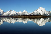 David Yunker Framed Prints - Jackson Lake Framed Print by David Yunker