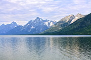 Jackson Prints - Jackson Lake Grand Teton Mountains Print by Karon Melillo DeVega