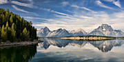 Lana Trussell Framed Prints - Jackson Lake Framed Print by Lana Trussell