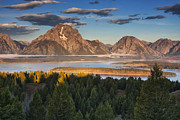 Mark Kiver Prints - Jackson Lake Morning Print by Mark Kiver