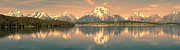 Local Posters - Jackson Lake Sunrise - Grand Teton Poster by Sandra Bronstein