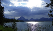 Mountains Mixed Media - Jackson Lake - Teton Mountains - Grand Teton National Park by Photography Moments - Sandi