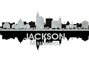 Iconic Design Framed Prints - Jackson MS 4 Framed Print by Angelina Vick