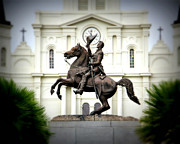 Historic Statue Digital Art Prints - Jackson Print by Perry Webster