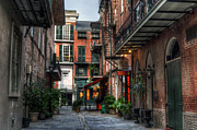Sunshine Louisiana Framed Prints - Jackson Square Alley Framed Print by Greg and Chrystal Mimbs