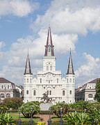 Jackson Photo Framed Prints - Jackson Square Cathedral Framed Print by Kay Pickens