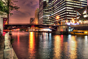 Water St Chicago Photos - Jackson St. Bridge over the Chicago River by Steven K Sembach