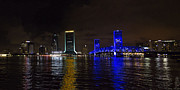 Jacksonville Framed Prints - Jacksonvile Night Framed Print by Edwin Holland