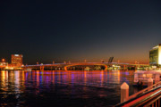 Jacksonville Acosta Bridge Print by Christine Till