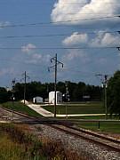 Jacksonville Il Rail Crossing 1 Print by Jeff Iverson