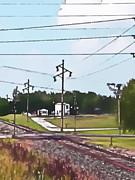 Jacksonville Il Rail Crossing 3 Print by Jeff Iverson