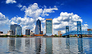 Jacksonville Posters - Jacksonville Skyline Poster by Mountain Dreams