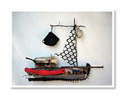 Found Object Art Sculpture Prints - Jacky Blacky Print by Bruno Mezic