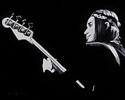 Joni Mitchell Paintings - Jaco by Brian Broadway