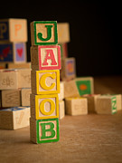 Alphabet Posters - JACOB - Alphabet Blocks Poster by Edward Fielding