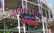 Baseball Murals Photos - Jacobs Field - Cleveland Indians by Frank Romeo