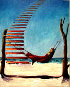 Key West Paintings - Jacobs Ladder by Sarah Barnaby