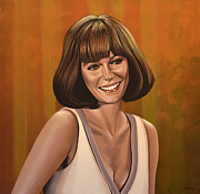 Class Painting Framed Prints - Jacqueline Bisset Framed Print by Paul  Meijering