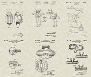 Jacques Drawings - Jacques Cousteau Patent Collection by PatentsAsArt