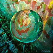 Spheres Digital Art - Jaded Jewels by Robin Moline