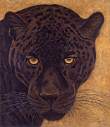 Feline Mixed Media Metal Prints - Jag Metal Print by Lawrence Supino