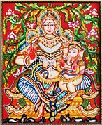 Kerala Murals Metal Prints - Jaganmatha Metal Print by Jayashree