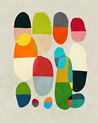 Geometric Digital Art Prints - Jagged little pills Print by Budi Satria Kwan