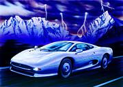 Jaguar 220 Print by Garry Walton