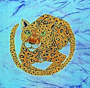 Cats Tapestries - Textiles Posters - Jaguar at Rest Poster by Kelly     ZumBerge