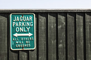 Sign Photos - Jaguar car park by Joana Kruse
