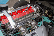 Jaguar E Type Photos - Jaguar E Type Engine by Roger Mullenhour