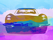 Classic Cars Digital Art Framed Prints - Jaguar E Type Front Framed Print by Irina  March