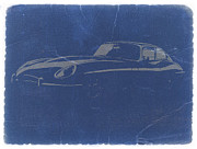 Old Cars Posters - Jaguar E Type Poster by Irina  March