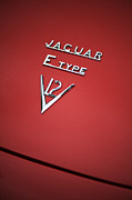 Badge Prints - Jaguar E Type V12 Abstract Print by Tim Gainey