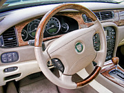 Trim Prints - Jaguar S Type Interior Print by Olivier Le Queinec