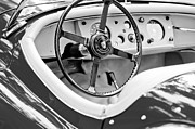 Jaguar Metal Prints - Jaguar Steering Wheel 2 Metal Print by Jill Reger