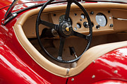 Classic Car Photography Posters - Jaguar Steering Wheel Poster by Jill Reger
