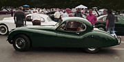 Curt Johnson Art - Jaguar XK 120 Coupe by Curt Johnson