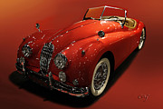 Curt Johnson - Jaguar XK 140 in Red