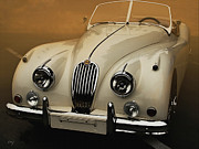 Curt Johnson Art - Jaguar XK-140 Summer Morning   by Curt Johnson
