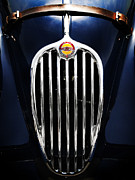 Jaguar Metal Prints - Jaguar XK140 Grille Metal Print by Mark Rogan