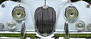 Jaguars Framed Prints - Jaguar XK150 Front Grill Framed Print by Allen Beatty