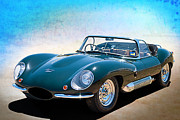 Racing Car Photographs Posters - Jaguar XKSS Poster by Stuart Row