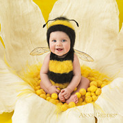 Bee Metal Prints - Jai 6 months Metal Print by Anne Geddes