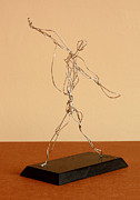Sports Art Sculptures - Jai-alai Player by Mel Drucker