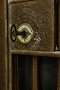 Jail Cell Door Lock  And Key Close Up Print by Paul Ward