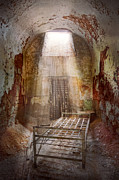 Cooler Posters - Jail - Eastern State Penitentiary - 50 years to life Poster by Mike Savad