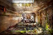 Hall Prints - Jail - Eastern State Penitentiary - The mess hall  Print by Mike Savad